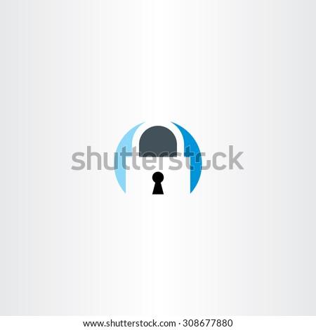 circle flat lock logo symbol design element - stock vector
