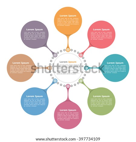 Circle flow diagram template eight elements stock vector 397734109 circle flow diagram template with eight elements vector eps10 illustration ccuart Images