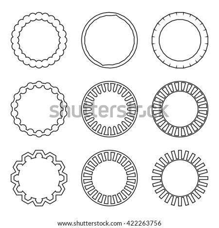 Circle Frame Round Vintage Frame Vintage Stock Vector 422263756 ...
