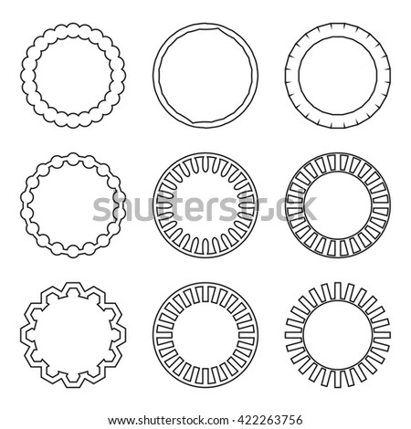 Circle Frame And Round Vintage Frame. Vintage Frame And Round Border. Vector  Flat Design