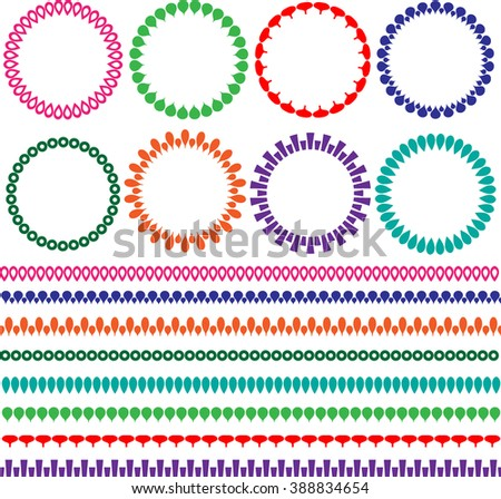 circle frames and borders - stock vector
