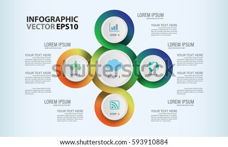 Circle graphic vector elements infographic template stock vector circle graphic vector elements for infographic template chart diagram graph presentation workflow ccuart Choice Image