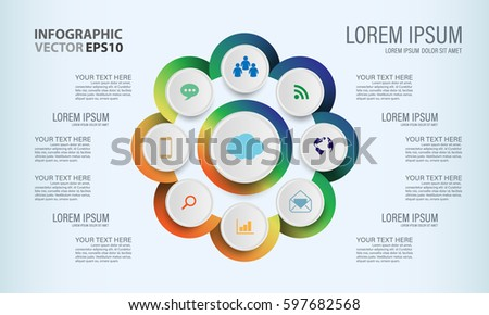 Circle graphic vector elements infographic template stock vector circle graphic vector elements for infographic template chart diagram graph presentation work ccuart Choice Image