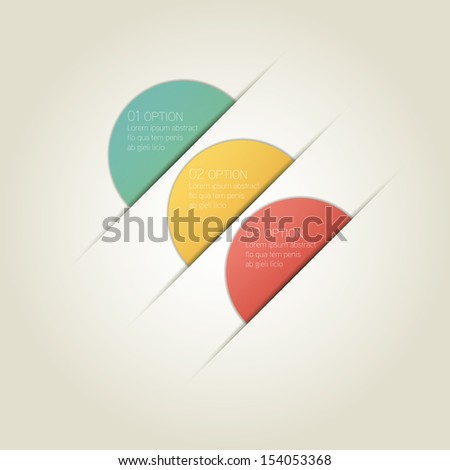 Circle Infographic Background with Sample Text - stock vector