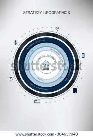 Circle Infographic. Flat Vector design template.  - stock vector