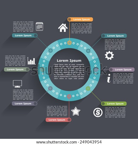 Circle infographics design template, vector eps10 illustration - stock vector