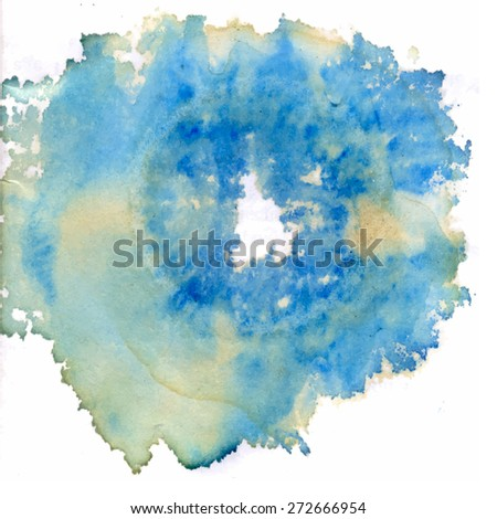 circle ink blot, abstract background. vector illustration - stock vector