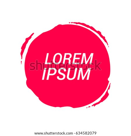 Circle Label Stickers Splash Icon Flat Vector 634582079 – Label