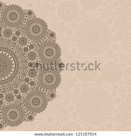 Circle Lace Ornament - stock vector