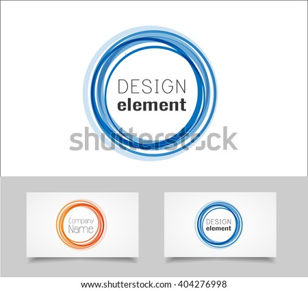 Circle logo design template - stock vector