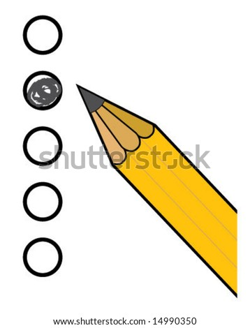 Circle Marks Pencil Test - stock vector