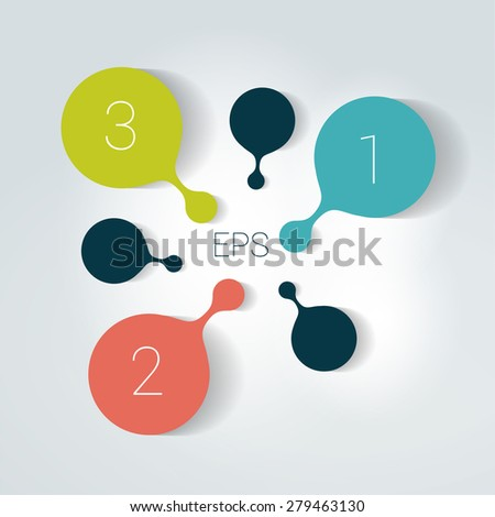 Circle number diagram, options, step by step template. - stock vector