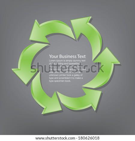 Circle of Arrows Concept - stock vector