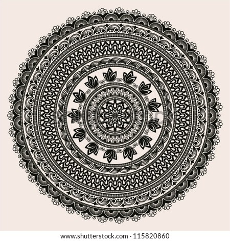 Circle ornament background EPS-8. - stock vector