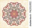 Circle ornament, ornamental round lace - stock vector