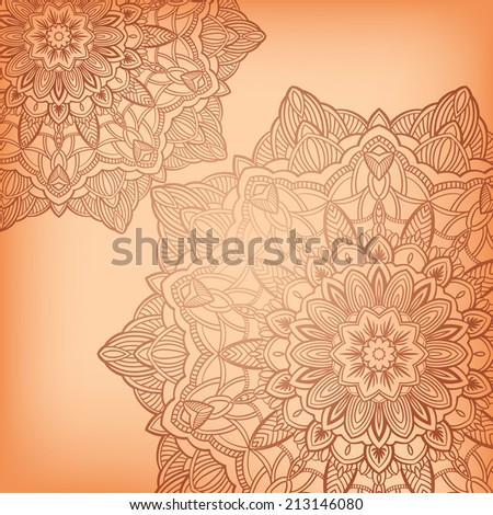 Circle ornament, ornamental round lace. Vector illustration.