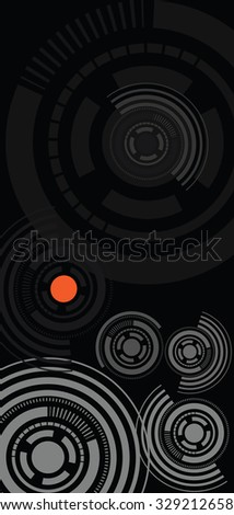 circle ornament with black background
