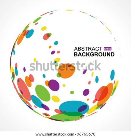 circle pattern on white background, Vector illustration - stock vector