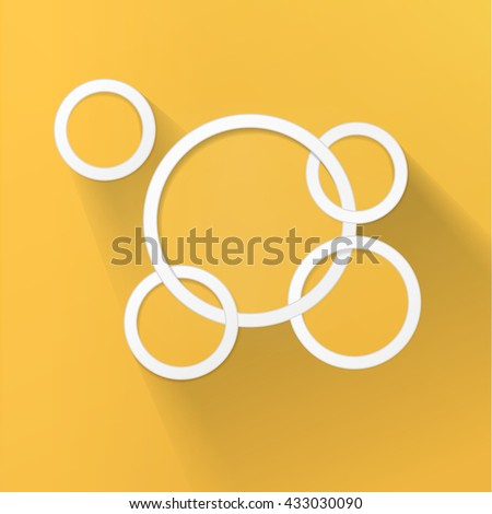 Circle Rings Chain Vector Design Composition for Your Options Menu Functional Branding Symbol - stock vector