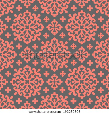 circle seamless floral pattern - stock vector
