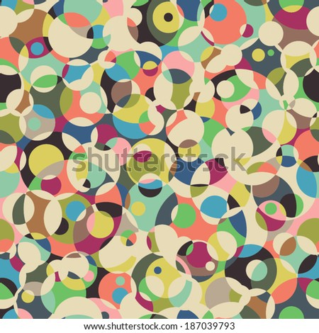 Circle seamless pattern. Abstract background