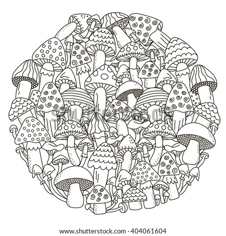 fantasy mushroom coloring pages - photo#26
