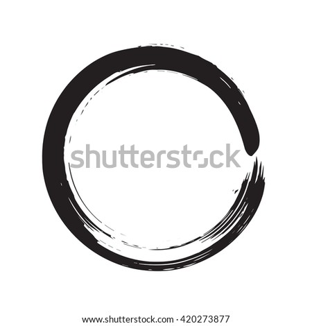 circle shape vector black grunge background