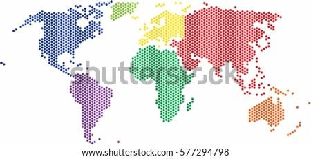 Technology Bits World Map Shape Vector Stock Vector - World map shape