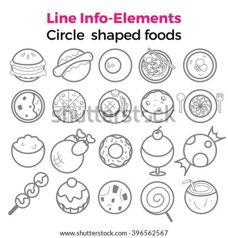 Circle Shaped Food Coconut Cupcake...