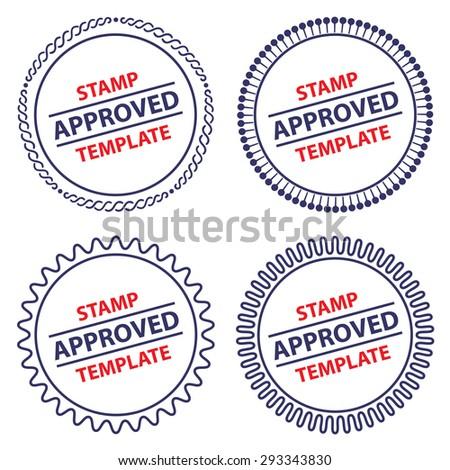 Circle Stamp Template, Security Design