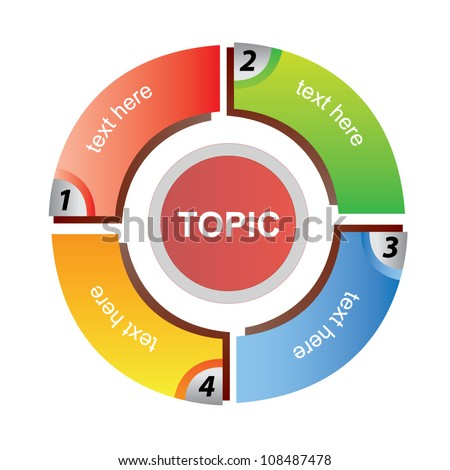circle step diagram - stock vector