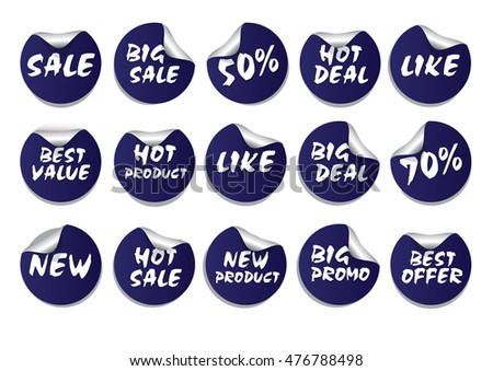 Circle Sticker Set Promotion Product or Others for Flyer, Brochure Design