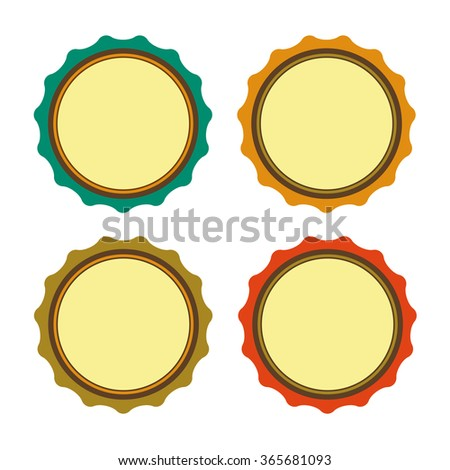 Circle sticker vintage, for offer, promotions or qualities... Write your text inside.