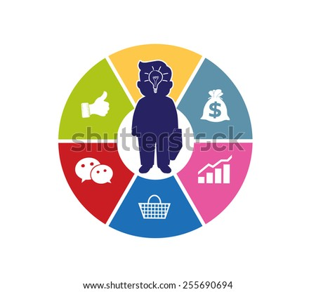 circle system business concepts with human icons - stock vector