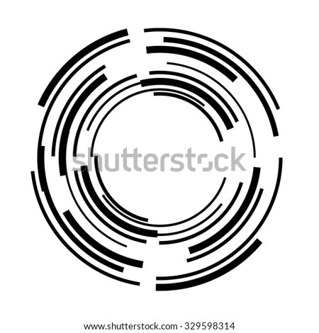 Circle . Technology Circle, Lines in Circle Form . Vector Illustration .Technology Circle Logo . Vector . - stock vector