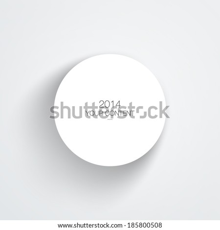 Circle text box design with light background eps 10 vector illustration - stock vector
