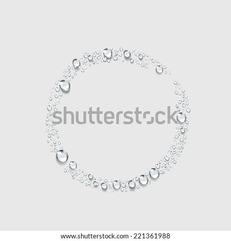 circle,Transparent water drop vector - stock vector