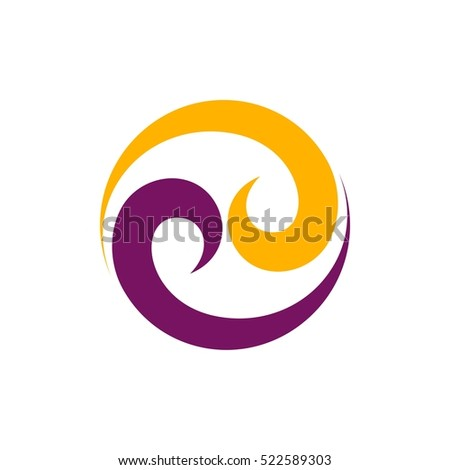 Circle Tribal Ornament Logo Template