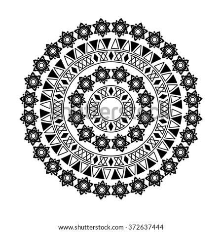 circle tribal . Vector illustration. - stock vector