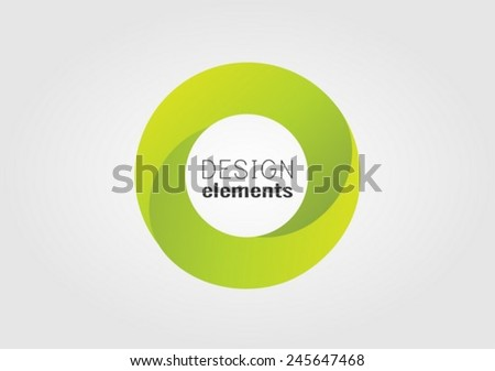 Circle  vector design element - stock vector