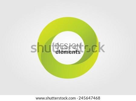 Circle  vector design element - stock vector
