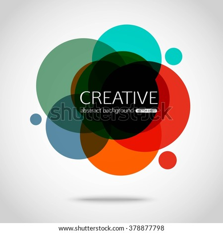 Circle vector design. Round creative background. Vector illustration. - stock vector