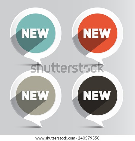 Circle Vector New Labels Set - stock vector