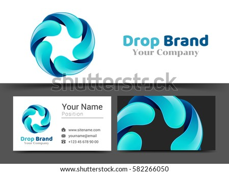 water drop card design stock photos royalty free images vectors