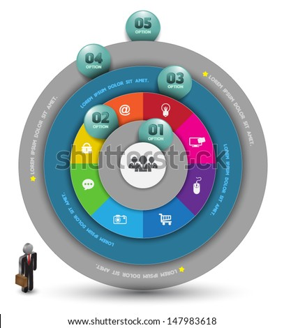 Circle with number. Can use for business concept , Education diagram. - stock vector
