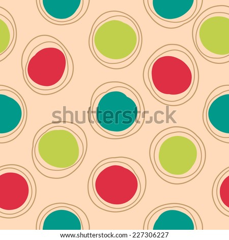 Circled seamless background. Vector illustration.