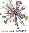 circles and rings vector sunburst - stock vector