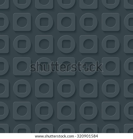Circles and squares seamless pattern. 3d seamless background. Vector EPS10.