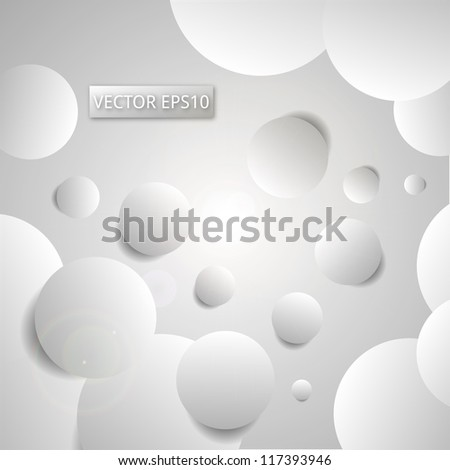 Circles Background - Circles With Shadow. Vector illustration. Eps10.
