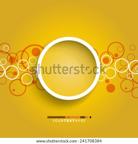Circles Design Background - stock vector